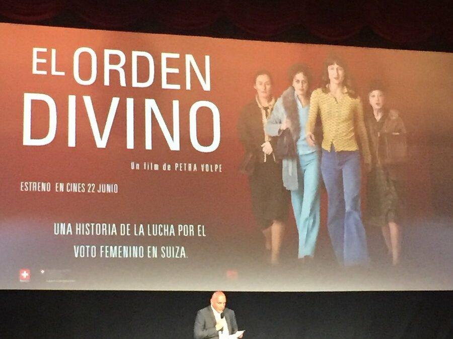 """Presentación de la película """"El Orden Divino"""""""