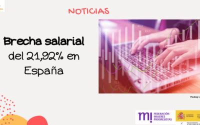 Brecha salarial del 21,92%